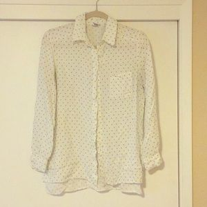 White blouse with black detail pattern